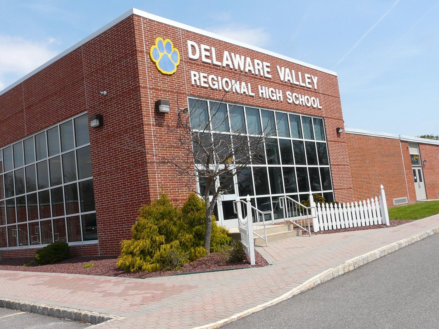 Delaware Valley Regional High School Front Entrance in the Fall