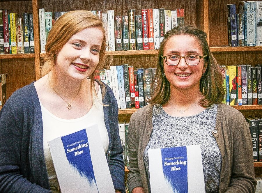 Editors, Maggie Erwin and Isabelle LoSapio, at literary magazine release party