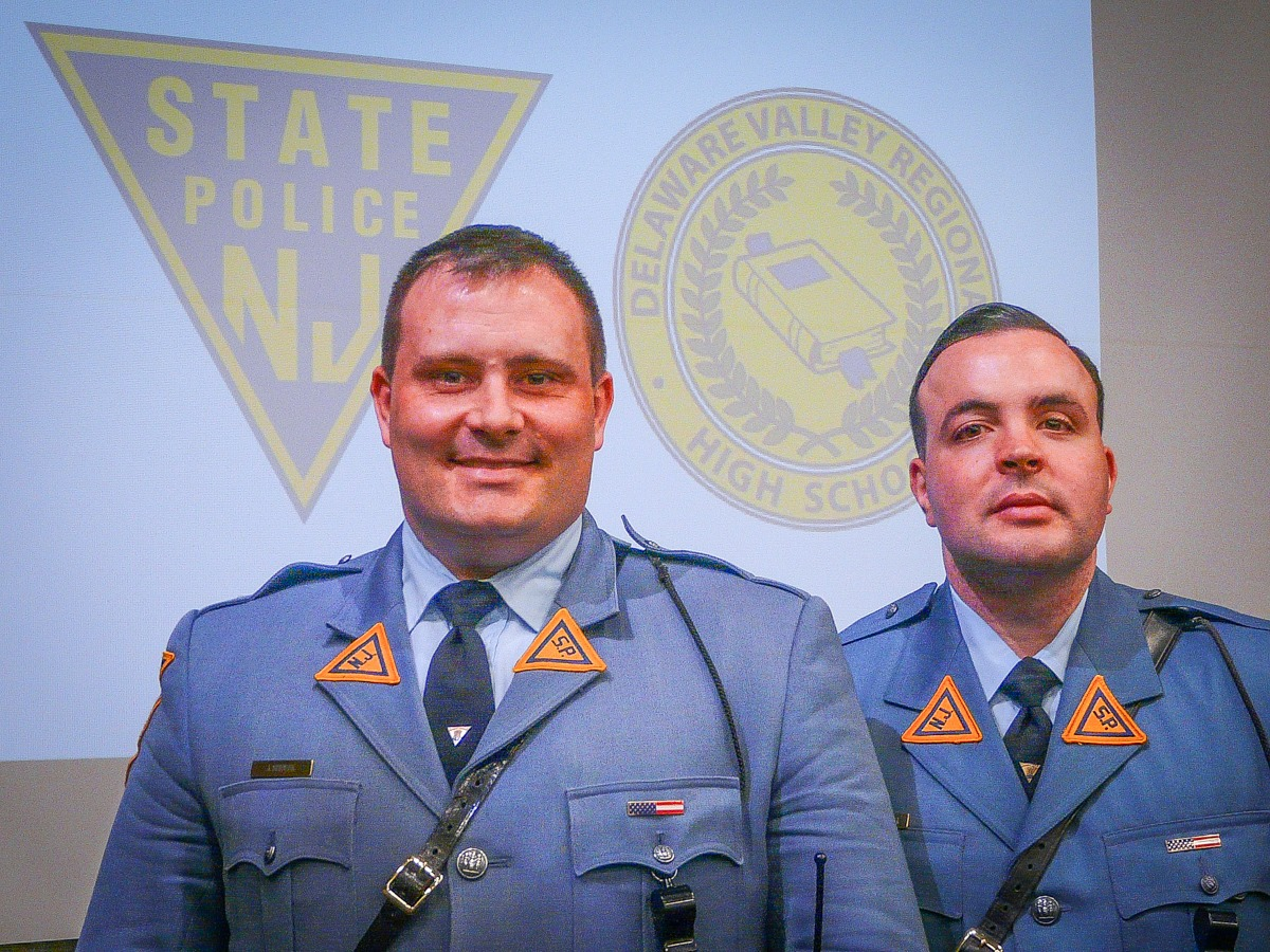 Troopers Joe Seidler and Mike Guenther lead powerful anti-drug assembly
