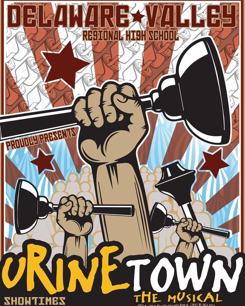 The poster for Delaware Valley Regional High School's rendition of Urinetown