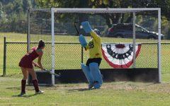 Field hockey goalie reaches 100 saves milestone
