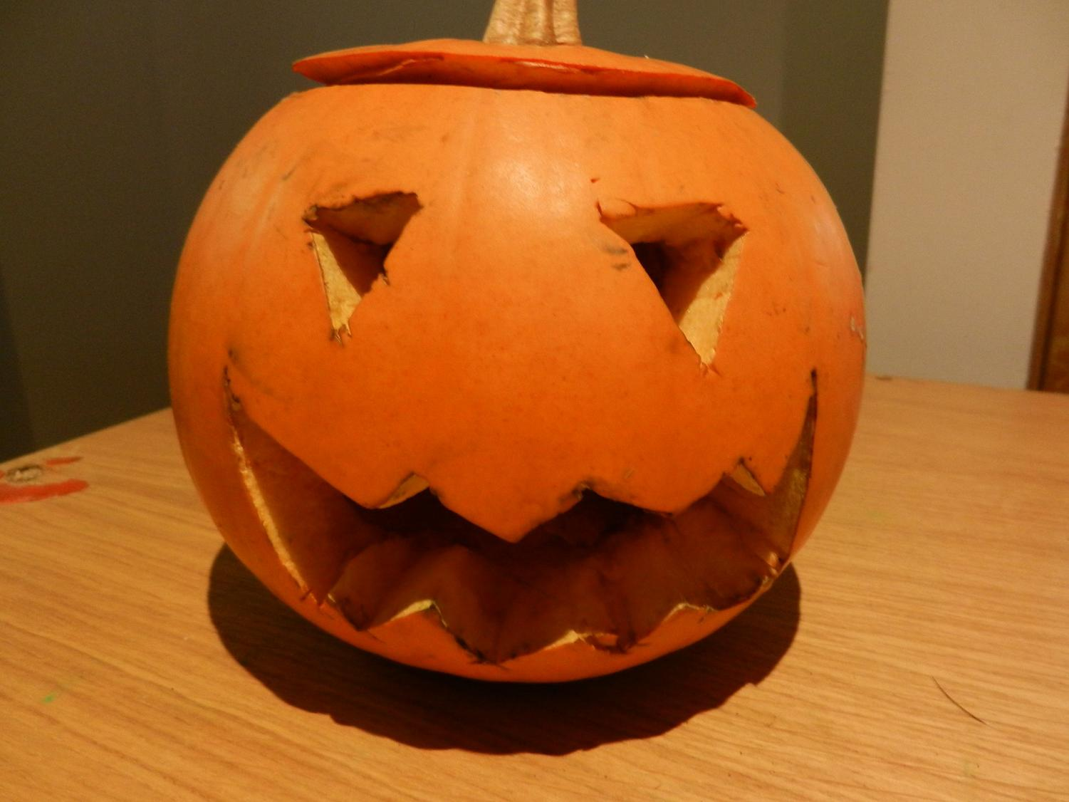 This jack-o-lantern was carved in honor of Samhain.