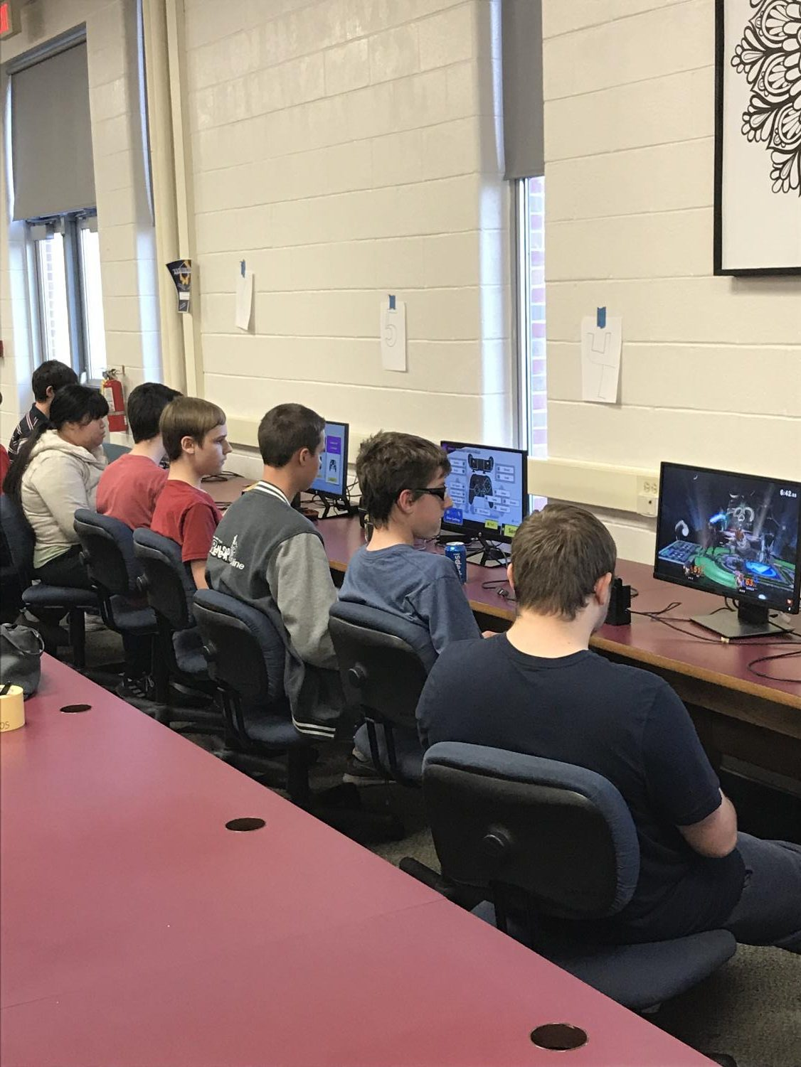 The Games Club tournament took over an entire wall of the Media Center