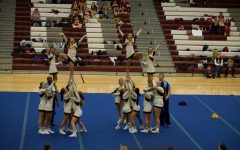 Delaware Valley HS Cheerleading at Skylands Conference; 1st place