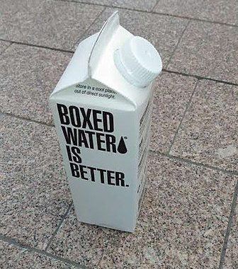 Each box of Boxed Water is Better is 75% paper and is 100% recyclable.