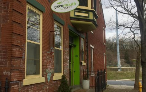 An outside view of Greenmouth Table in downtown Easton