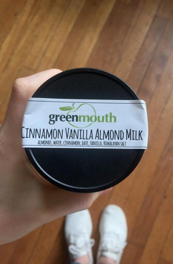 Greenmouth's homade cinnamon vanilla almond milk.