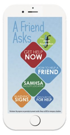 "The free ""A Friend Asks"" app provides numerous resources for those in crisis with the touch of a finger."