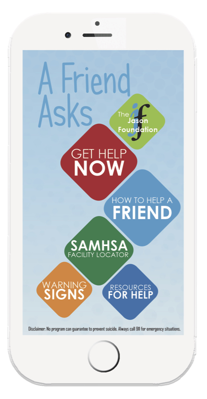 The free A Friend Asks app provides numerous resources for those in crisis with the touch of a finger.