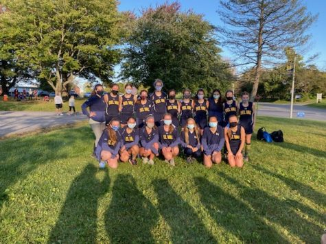Del Val's girls' cross country team after their first home meet.