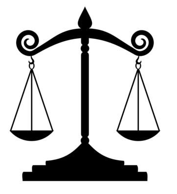 A balanced scale, like this one, is the goal for many gender disputes.