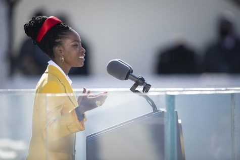 """Amanda Gorman reads her poem """"The Hill We Climb"""" at the 59th Presidential Inauguration."""