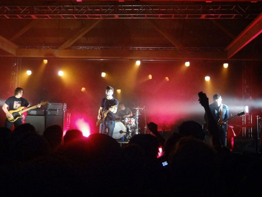 The Arctic Monkeys performing live
