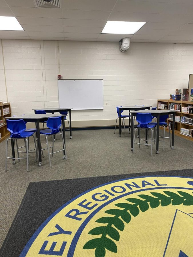 The Media Center's new chairs and tables are already in use.