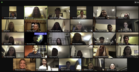 All of the NHS inductees at the end of the virtual ceremony.