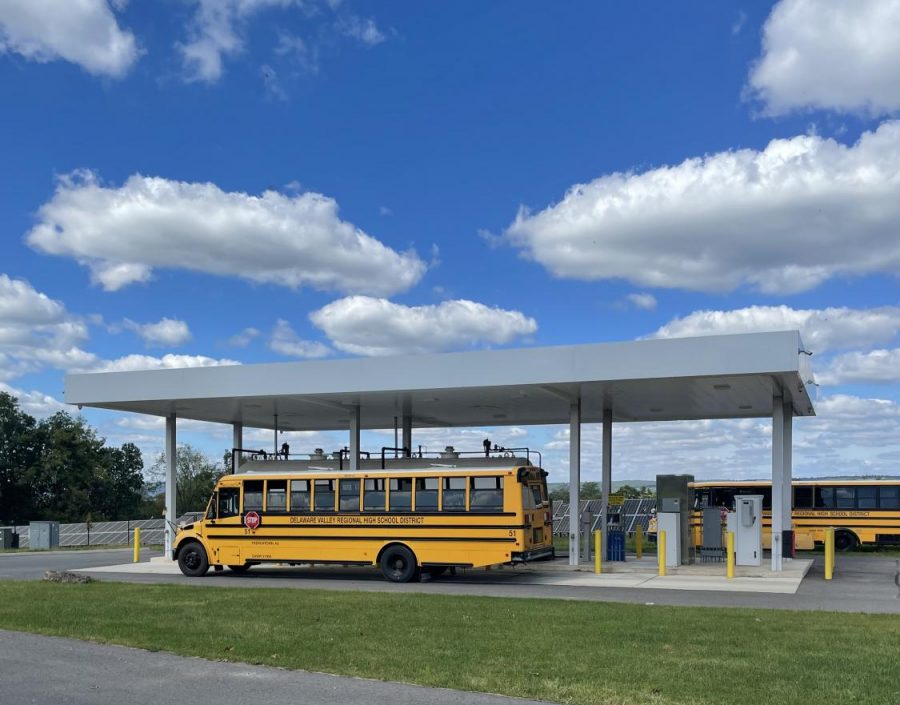 Del Vals bus garage has plenty of busses, but the school is in need of drivers.